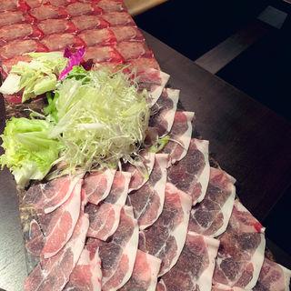 肉の絨毯コース+飲み放題(牛タンしゃぶ しゃぶ庵 錦店)