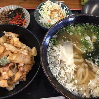 かき揚げ丼セット(一吉うどん )