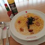 野付の帆立のスパゲッティ