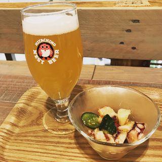 常陸野ネストビールとおつまみ(常陸野ブルーイング品川ビア&カフェ)