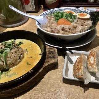 チャーハン餃子セット(肉そば/餃子/鉄板玉子チャーハン)(丸源ラーメン 高島平店 )