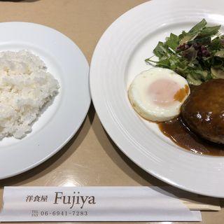 ハンバーグ定食(フジヤ (Fujiya))