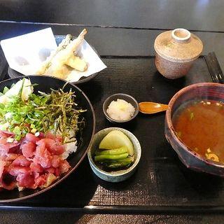 鉄火丼茶碗蒸しセット(天ぷら 海ごこち 深井店 )