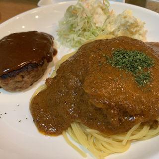 ミートソース、ハンバーグ(麺や 鳥我)