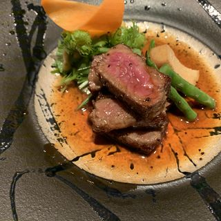 黒毛和牛ステーキコース ランチ(霞庭まつばら )