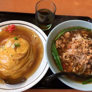 天津飯+台湾ラーメン(聚縁軒)
