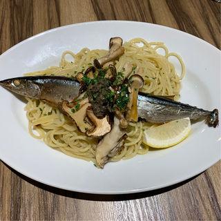 北海道根室産さんまを丸ごと一本使った贅沢スパゲティ(ミア・アンジェラ 一番町 )