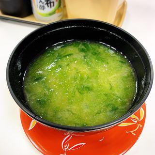 あおさ汁(海鮮三崎港 渋谷東口店)