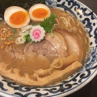 豚骨魚介 らー麺(斑鳩)