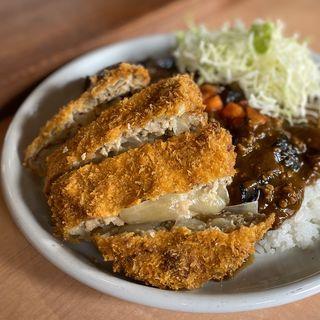 茄子と挽肉のカレー ビッグメンチカツ(ターバンカレー 須坂インター店 )