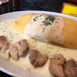チーズクリームオムライスキチン入り(長屋オムライス 大阪駅前第一ビル店 )