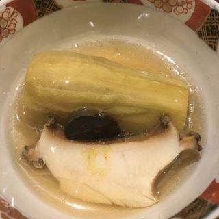 茄子の田舎煮と岩手鮑の潮煮(太月)