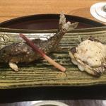 郡上八幡の鮎塩焼と太刀魚のうるか焼(太月)
