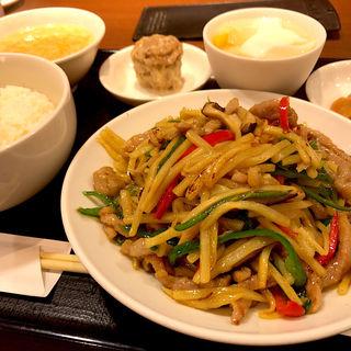 豚肉のチンジャオロースセット(華正樓 高島屋新横浜店 (カセイロウ))