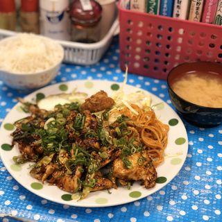 若鶏の味噌炒め定食