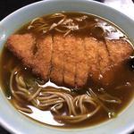 カツカレーそば(みすゞ庵)