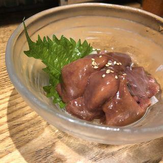 鶏レバ刺し(黒鶏ファニー)