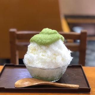 かき氷(づんだミルク)(村上屋餅店 (むらかみやもちてん))