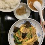 豚肉・きくらげ・玉子炒め定食