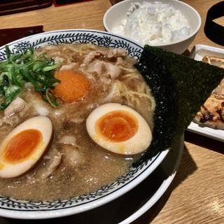 丸源餃子セット(肉そば+味玉/餃子/ご飯小)(丸源ラーメン 高島平店 )