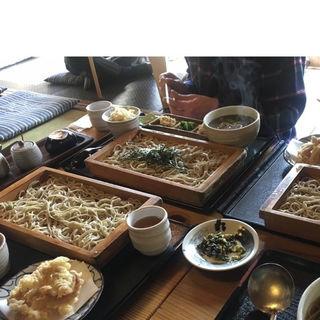 げそ天板蕎麦(初代 伝五郎 )