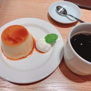 焼きプリン生クリーム添え(muji diner  無印良品食堂)