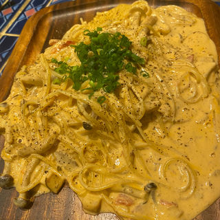 蟹味噌クリームスパゲッティーニ(バル マルガリータ 板宿店 )