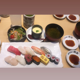 特上にぎり(うまい鮨勘 一番町支店 (うまいすしかん))