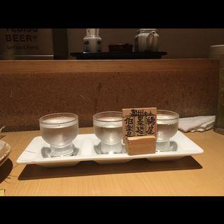 日本酒三種飲み比べ 奥州セット(漁亭 浜や あすと長町店 )