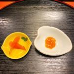 カラスミと赤貝肝