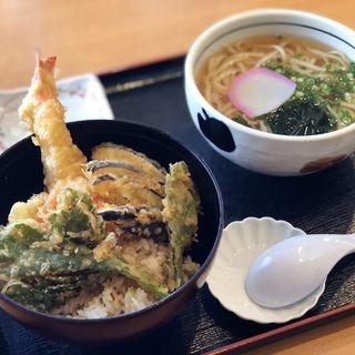 天丼セット(能古うどん 和白店 (のこうどん))