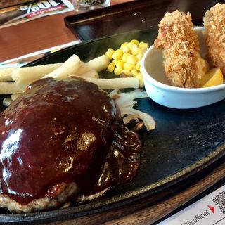 ビリーハンバーグ(大粒牡蠣フライ付けて)