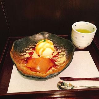 わらび餅アイスクリーム(追分だんご本舗 新宿本店 (おいわけだんごほんぽ))
