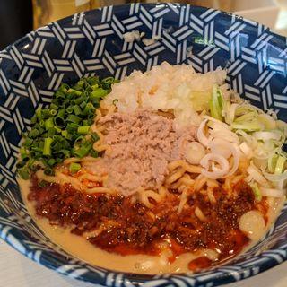 創業10周年記念特別限定麺 鯖汁無し担担麺(ざいとん )