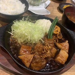 トンテキ(ご飯・味噌汁セット)(福岡トンテキポルコ)