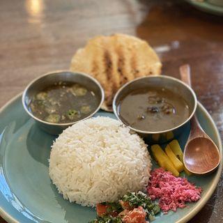 重ね煮カレー2種盛り(Curry&Spice青い鳥)