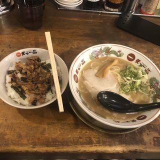 チャーシュー丼セット(こってり)(天下一品 石橋店 )