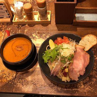 海老つけ麺(つけめん・らーめん 海老鶏麺蔵 難波本店)