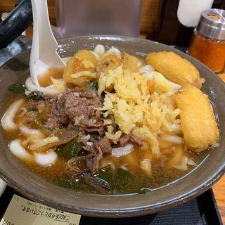 肉ごぼう天セット(牧のうどん 博多バスターミナル店)