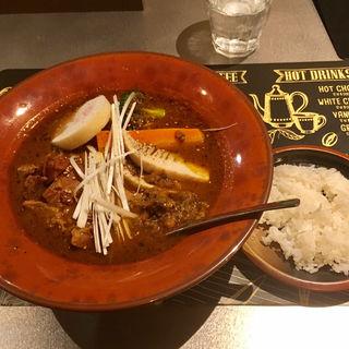 豚の角煮SOUPCURRY羊骨ラーメン(スープカレー しゃば蔵)