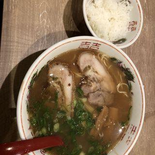そば定食(岡山中華そば 後楽本舗)