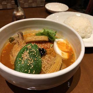 チキンと野菜のスープカリー【薬馬】(シャンティ 原宿店 (SHANTi))