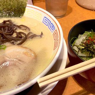 ランチセット(白ラーメン鶏白湯+明太子御飯)(つけ麺 中華そば 節 (旧店名:柳屋))