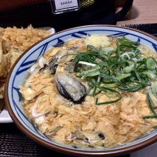 牡蠣づくし玉子あんかけ(野菜かき揚げ付けて)(丸亀製麺 イオン板橋店 )