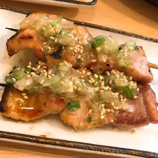 豚バラ串焼ネギ塩だれ(簾 (炭火焼きとり 簾))