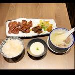 牛たん三味定食(炭焼牛たん東山ekie広島店)