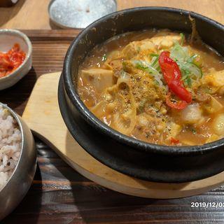 海鮮テンジャンチゲ定食(韓食 古家 )