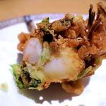 小海老と新生姜と三つ葉のかき揚げ(みこころや )