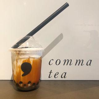 焦がし黒糖タピオカラテ(Comma Tea)