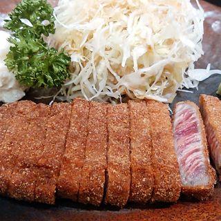 牛かつ麦飯セット 130g(牛かつ もと村 コレド室町店 )